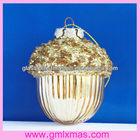 2014 New Design Christmas Glass chestnut decoration