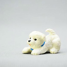 Small plastic animal toys;OEM cartoon dog animal figures