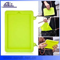 Girl Choice Color Hangbag Silicon Case Cover for iPad Mini
