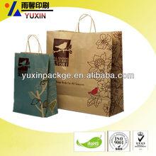 kraft packaging handbags/paper bag/factory price/free sample