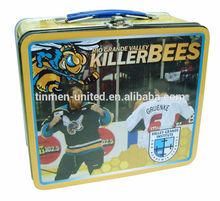 Fancy killer bee lunch tin box with padlock