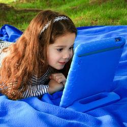 for Apple iPad mini EVA Foam Kids Child Proof Hot Pinkstand Case Cover