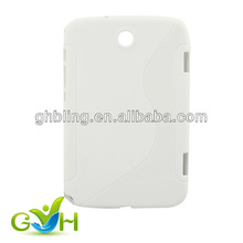 White Color TPU S Shape Case for Samsung Galaxy Note 8.0 N5100