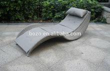 2014 new design outdoor rattan Sun Lounger