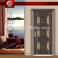 de madera de acero blindado puerta frontal de acero inoxidable puerta de seguridad