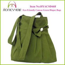 Fashion Eco-Friendly Green Cotton Canvas Custom Boutique Bags OEM Production Canvas Tote Bag