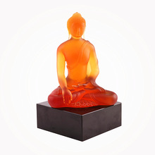 WF002 sitting indian buddha liuli handmade religious crafts used for temple or enshrine and worship