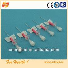 PP vent fitting sterile butterfly type IV catheter