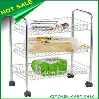 3 Tiers Metal Kitchen Storage Cart 048C