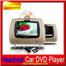 "car headrest detachable dvd players 7"" 16:9 TFT LCD screen dvd player + monitor"