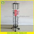 Retail flooring metal post card spinner display stand