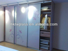 Glass Wardrobe Sliding Doors with EN12150 & AS/NZS certificate