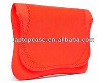 Red neoprene envelope tablet pc bag computer bag