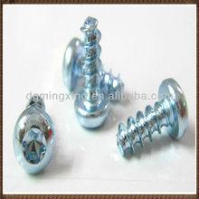 Flower pan head color chromium plated screws
