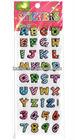 Bright 3D Alphabet Stickers