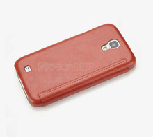 Luxury cell phone leather flip cover for samsung galaxy s4 case