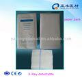 No- de algodón estéril esponjas de gasa/hisopos/con cojines de rayos x detectables hilo