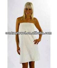 Ladies Towelling Sarong / Bath Towel Wrap, CREAM Colour, 100% Cotton