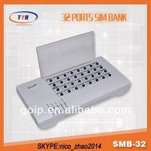 Smb32 SimBank 32 Ports Sim Bank to clonar Card Sim PBX Server Software With Auto Imei Change