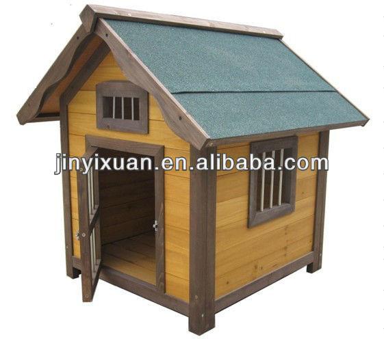 Fir wood dog house with Stainless steel window&door / log cabin / perrera