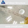 prefab cúpula de metal techo cubierto de cemento planta de luz estructuras de acero
