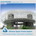Pré-fabricadas space frame de aço salão de exposição de cima do telhado quadro