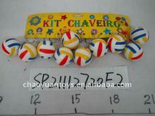small promotion toys 3cm pu ball fashion key rings custom made SP21112720F2