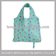 Eco friendly reusable polyester folding shopping bag