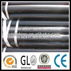 black steel Astm A106 sch 40 seamless carbon steel pipe