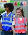 los niños chaleco de seguridad reflectante de alta visibilidad chaleco de seguridad