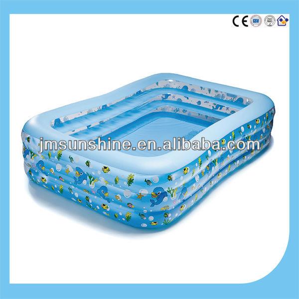 Tamanho grande piscina inflável para a família/grande espessura praça da piscina