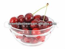 Cherry glass fruit bowl