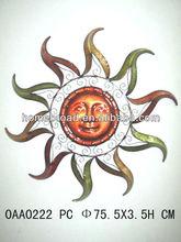 2014 China Hot selling Metal sun face wall decoration