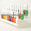 de alta calidad de acrílico transparente de esmalte de uñas del soporte del piso estante de exhibición