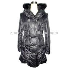 Brillant , plus la taille hiver rembourrage manteau avec capuche femmes