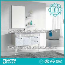 BONNYTM modern white flower pattern bathroom cabinet india standing style BN-8205