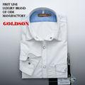 100% de algodón liso blanco los hombres slim equipado camisa casual