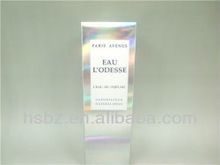 New elegant silver perfume paper boxes/100ML perfume packing box/france parfum packing box