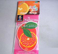 High quality car freshener, hanging air freshener card factory fruit series