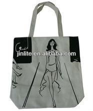 OEM cotton tote bag/clear logo bag/clear beach bag