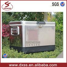 54L Retro Cooler Box Durable Steel Ice Chest