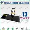 13W outdoor activity flexible solar panel wholesale,portable solar charger bag for travel