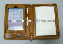 fashion handle leather portfolio case for ipad