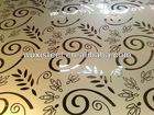 Etched,Embossed,HL,Mirror finish stainless steel decorative sheet