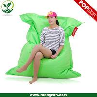Giant green square beanbag sofa chair, waterproof bean bag sofa