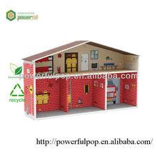 Living room corrugated cardboard furniture house shelter for chilren toys