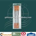 Fábrica de venda / cabo de madeira de madeira espeto de carne espetos hongxuan BBQ-YW06A