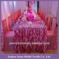 tc055f1 beliebten rosa und weiß organza lockig weide zerzauste hochzeit tischdecke