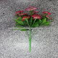 5 cabeças 20 flores china aster flores de tecido artificial atacado de decoração de interiores