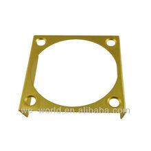 Aluminum CNC Machining Frame Gold Anodizing Color frame